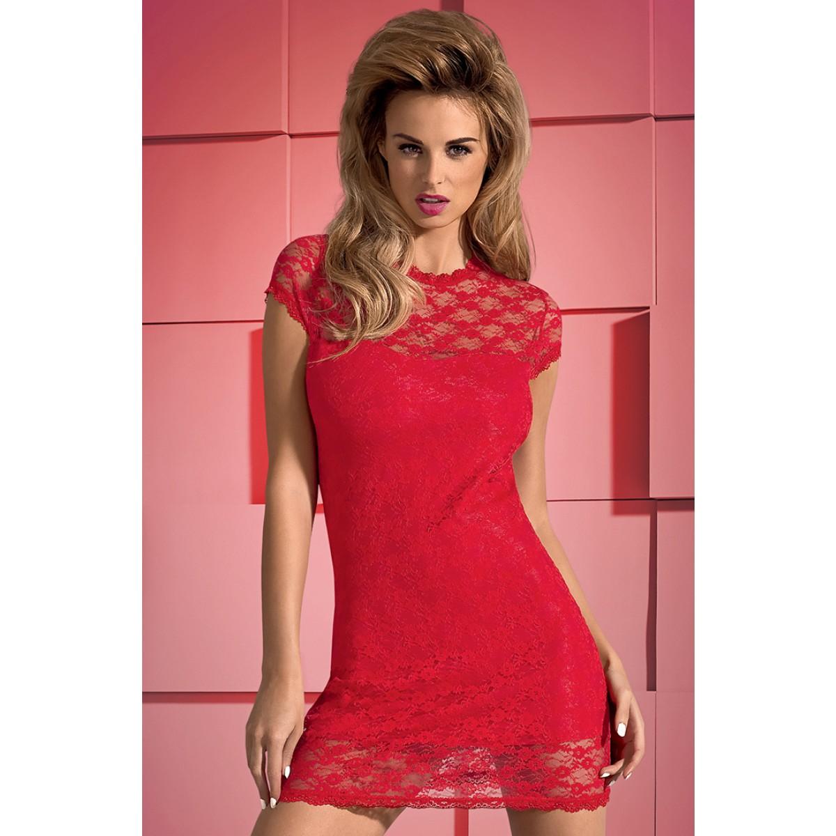 e6fe51fe90f9fd Dressita sukienka i stringi czerwona Obsessive