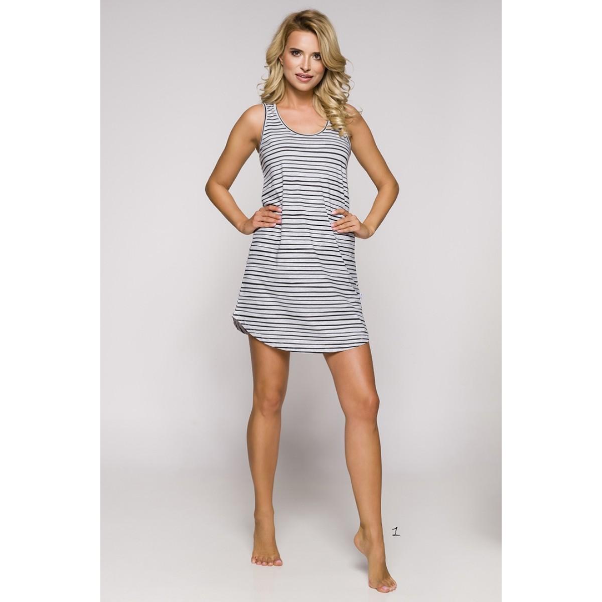 Koszula nocna damska Tiffany 2166 S S 19 wz.1 Taro  jUj13