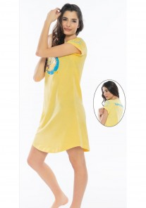 Koszula nocna damska 0100180000 żółty Vienetta