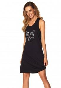 Koszula nocna damska SAL-ND-2070 wz.3 czarny Rossli