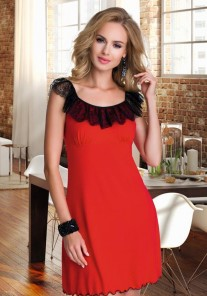 Koszulka nocna damska Elisa czerwona Eldar