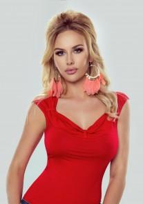 Bluzka damska Nelly czerwony Eldar