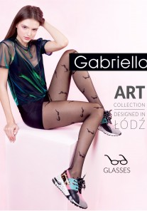Rajstopy cienkie wzorzyste GLASSES Gabriella