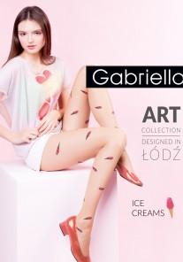 Rajstopy cienkie wzorzyste ICE CREAMS Gabriella