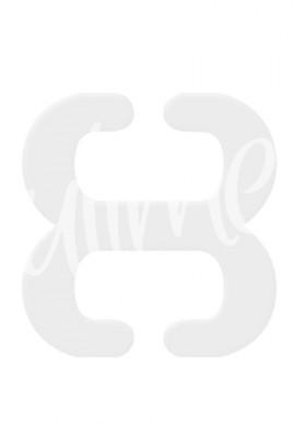 Klips ściągający ramiączka BA-13 biały Julimex